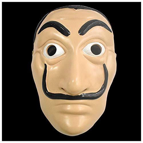 Harz Dali Maske Karte Haus La Casa De Papel Halloween Charakter Show Dress Up Maske ()