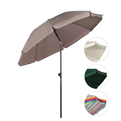 Sekey Sombrilla Ø 200 cm parasol para terraza jardín playa balcón piscina...