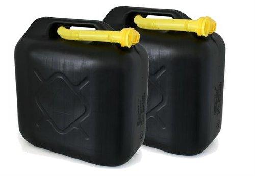 AD Tuning GmbH & Co. KG Kunststoff Kanister, 2er Set, Volumen: je 20 Liter (Lieferung ohne Inhalt). Inkl. Ausgieser - Schnorchel.