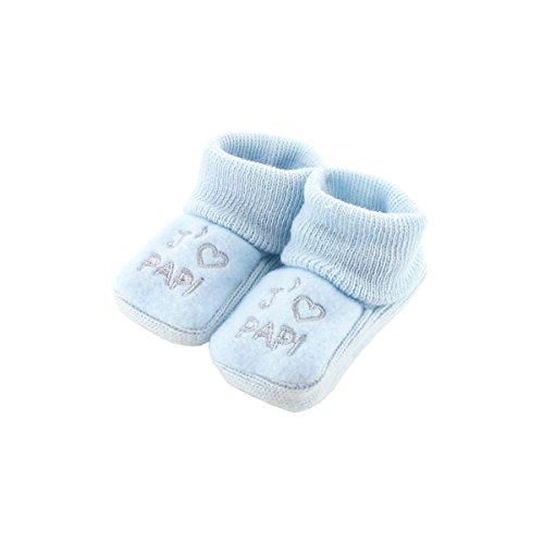 Chaussons pour bébé 0 à 3 Mois bleu - J'aime papi