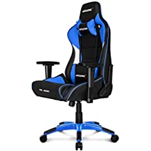 AKRACING Prox Gaming - Silla (Cuero PU, Metal) Negro/Blanco