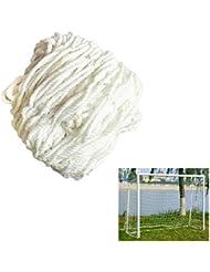 Smart Fun Filets de Remplacement pour Football les Buts de Foot Net -Poster Pole ne sont pas inclus, 3 Taille (1.8x1.2m, 3.6x1.8m, 7.3x2.4m) Blanc