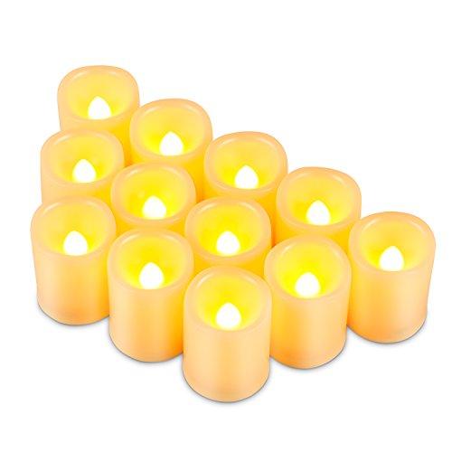 Kohree 12 LED Votivkerzen Flammenlose Kerzen mit Timer, Batteriebetriebene Kerzen, 6 Stunden Timer