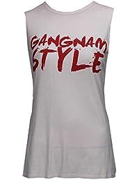 Baleza Women Ladies Sleeveless Gangnam Style Print Vest Top Sz 8-14