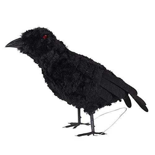 Kostüm Realistisch Vogel - semen Halloween Deko-Krähe Künstliche Rabe Krähe Mit Federn Schwarz Vogel Party Dekoration Glitzer Realistische Halloween Kostüm