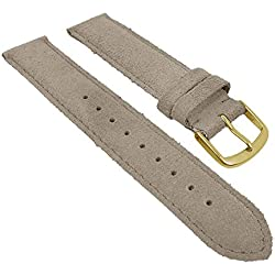 Herzog Replacement Watch Strap/Band Suede Cream 26774G Bridge Width: 20 mm