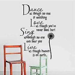 Baile Margarita Pegatinas De Pared Talladas Proverbios De Poesía Inglesa Y La Sala De Estar