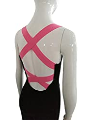 Atractivo luz las mujeres Backless - Body deportes Jumpsuits Rompers, mujer, color rosa, tama?o S: UK 6-8