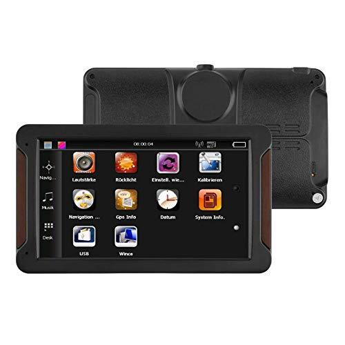 Semoic 7 Zoll Auto GPS Navigator Fm 256Mb + 8G Mp3 / Mp4 Kapazitiver Bildschirm Central Control Navigator Europa Karte
