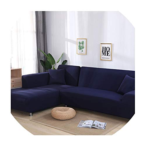 Pineapple Under The Sea Grey Color Elastic Couch Sofa Cover Love seat Cover Sofa Covers for Living Room Sectional Sofa Slipcover Armchair Furniture Cover,Navy Blue,1seater and 2seater -