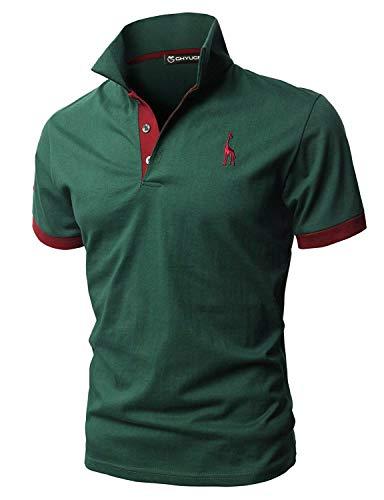 GHYUGR Polo Uomo Basic Manica Corta Tennis Golf T-Shirt Ricami Fulvi Maglietta Poloshirt...