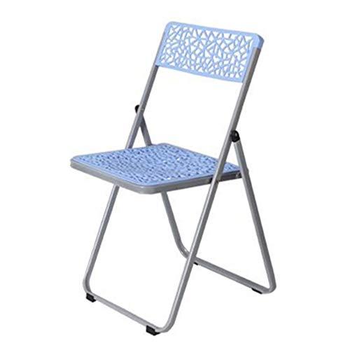 Ouqian-OP Klappstuhl Kunststoff-Hohl Klappstuhl Ausbildung Stuhl Einfacher Konferenzstuhl Ventilation Klappstuhl Für Geschäftstreffen (Farbe : Blau, Größe : 85x47x47cm) -