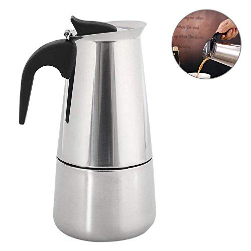 leegoal Espressokocher,Kaffeekocher Aus Edelstahl, 2/4/6/9 Tassen Moka-Topf Kaffeemaschine Für Gaherd (Silber) - Kaffeemaschine 9 Tasse