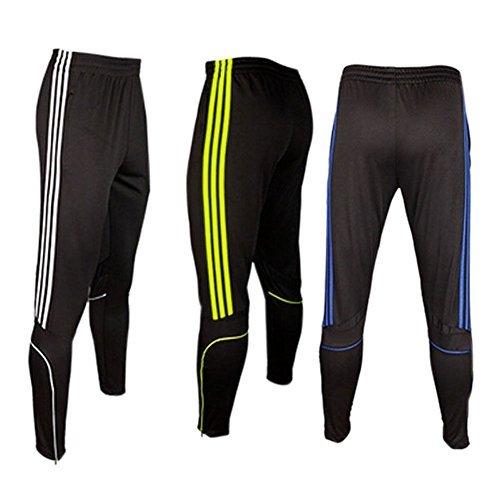 COOLOMG Herren Sporthose Jogginghose Laufhose Trainingshose Sweatpants Lang Schwarz Blau M (Trainingshose Running)