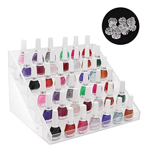 Organizador esmalte uñas 6 niveles tornillos plástico