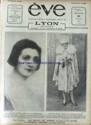 EVE [No 354] du 10/07/1927 - MME HUGUETTE GARNIER - MLLE PEPA BONAFE - EDOUARD DE KEYSER - ALPINISME FEMININ - H. NICOLLE.