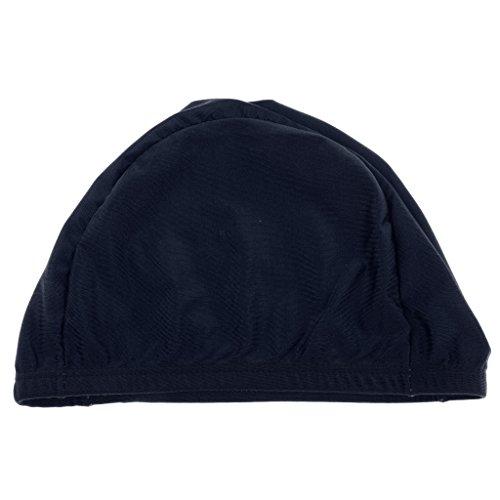Gorros De Natación Casquillo Piscina Sombrero De Pelo Largo Para Adulto Unisex Hombre Mujer - Azul