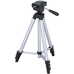 """Maxsimafoto - MSF312 - Trépied 128cm (50"""") transportable pour appareil photo/caméscope Panasonic Lumix DMC-FZ45 / FZ40 / FZ47 / FZ48 / FZ60 / FZ62 / FZ70 / FZ72 / FZ100 / FZ150 / FZ200 / FZ300 / FZ330 / FZ1000 / FZ2000"""
