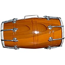 Handmade Wood Dholak Indian Folk Musical Instrument Drum Nuts N Bolt