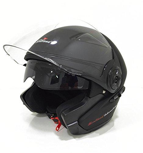 59-60 L Scotland Casco da Moto//Scooter con Visiera Lunga Nero Opaco
