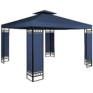 Tonnelle barnum 3x3m Lorca - Tente de reception jardin & ventilation - Bleue