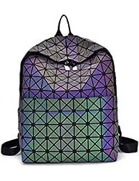 4010c429e883e Fantasie Farb Rucksack - Mode Doppelter Schulter-geometrischer  Lingge-Beutel-reisender Rucksack-Geometrie-Schulrucksack für Frauen…