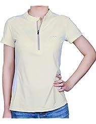 IKRR Top Blouse Sport T-shirt manche courte Séchage rapide pour Femme Jaune,M