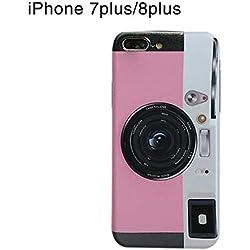 Estuche del teléfono para la serie Iphone, estuche retro de la carcasa de la cámara con soporte de airbag para el iphone X, iphone 8/7, iphone 8 plus / 7plus, iphone 6s / 6, iphone 6s plus / 6 plus