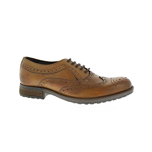 Barratts Mens HX09 Tan Leather Brogue Lace Up Shoe 9