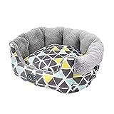 Xinwcang Tierbett Hundebett Katzenbett für Hund Katzen Haustier Katzen Sofa Hundesofa Waschbar Grau Weiß L