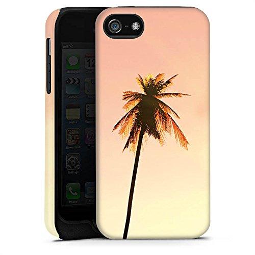 Apple iPhone X Silikon Hülle Case Schutzhülle Palmen Urlaub Sonne Tough Case matt