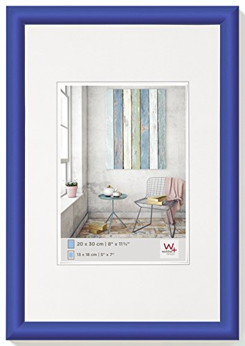walther design KP040M Trendstyle Kunststoffrahmen, 30x40 cm, indigoblau