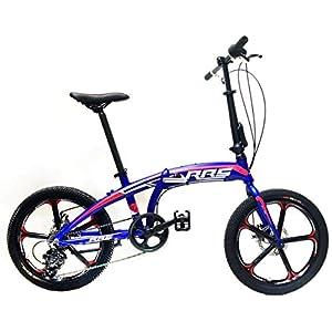 """41 58 FSPUL. SS300 Reset Bicicletta Pieghevole 20"""" 7V Ruote in Lega Broadway Blu"""