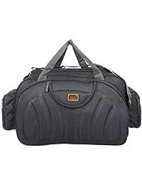 8610febf375a NDisha Waterproof Polyester Lightweight 60 L Luggage Grey Travel Duffel Bag  with 2 Wheels