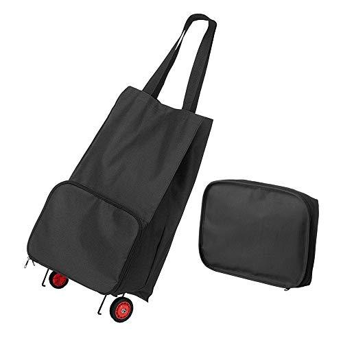 GAOYI Faltbare Einkaufstasche mit Rädern Faltbare Einkaufstasche Einkaufswagen Einkaufswagen Wiederverwendbare Einkaufstasche Lebensmittel Faltbarer Einkaufswagen (Rädern Faltbare Einkaufstasche Mit)