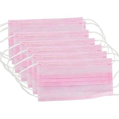 ROSENICE Medizinische Maske 50 Stück Anti Staub Breathable Ohrbügel Mund 3-Schicht-Respirator Vliesstoff (Pink) von ROSENICE - Outdoor Shop