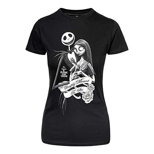 Rockoff Trade Damen The Nightmare Before Christmas Ladies Tee: Simply Meant to Be T-Shirt, Schwarz Black, 36 (Herstellergröße: Medium)