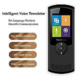 XXHDYR Intelligentes Sprachübersetzungsgerät, Bidirektionale Sprachübersetzung In Echtzeit, HD-Aufnahme Mit Zwei Mikrofonen, Langer Standby-Modus, WiFi 4G 2,4-Zoll-HD-Touchscreen, 42 Sprachen For Gesc