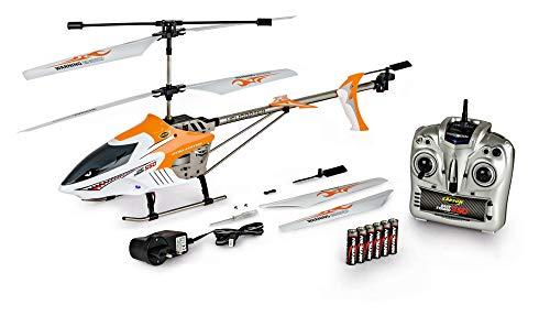 CARSON 500507049 - Easy Tyrann 550 RC 3,5 CH 2.4G 100{eae057808f151d8e6691be5e77edcf1cf0753f9be25f41c6b7a1af6e324fb887} RTF, Ferngesteuerter Helikopter, Flugfertiges Modell,RC Helikopter,inkl. Batterien und 2,4 GHz Fernsteuerung,100{eae057808f151d8e6691be5e77edcf1cf0753f9be25f41c6b7a1af6e324fb887} flugfertig, LED