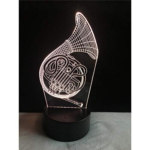 Großhandel 3D Musik Saxophon USB LED Lampe Trompeten Form 7 Farben Ändern Nachtlicht Kind Weihnachtsgeschenk Künstlerische Dekor Kind Spielzeug