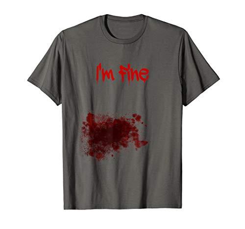 Kostüm Zombie T Shirt Weiß - Bloody Zombie Bite Scary Halloween-Kostüm T-Shirt