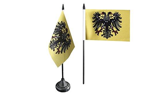 Tischflagge / Tischfahne Heiliges Römisches Reich Deutscher Nation nach 1400 + gratis Aufkleber, Flaggenfritze®