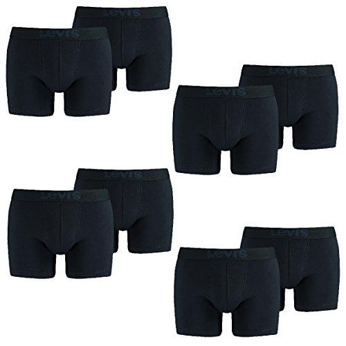 8 er Pack Levis Boxer Brief Boxershorts Men Herren Unterhose Pant Unterwäsche, Bekleidungsgröße:XXL, Farbe:824 - mid Denim (Pack Boxer Briefs-8)
