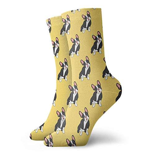 dfegyfr Adult Cute French Bulldog Pattern Cushion Ankle Socks -