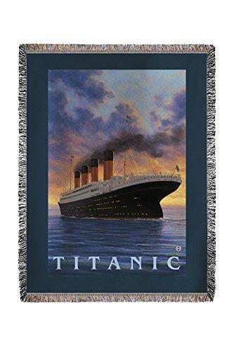 Titanic-White Star Line (60x 80Woven Chenille Garn Decke) -