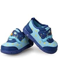 H:oter , {Chaussures premiers pas pour bébé (garçon) - bleu - Bleu - Bleu, 4 UK EU