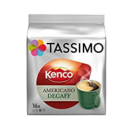 Tassimo T Discs Kenco Americano Decaf (1 Pack, 16 T Discs/pods), 16 Servings