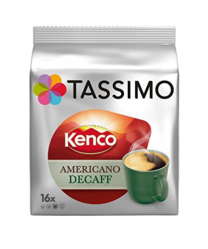 Tassimo T Discs Kenco Americano Decaf (1 Pack, 16 T discs/pods), 16 Servings 41 5BdEyfwL