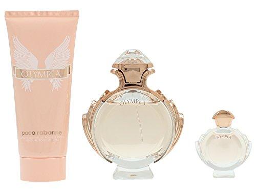 Paco Rabanne Olympea Geschenkset 50ml Eau de Parfum + 100ml Body Lotion + 6ml Eau de Parfüm