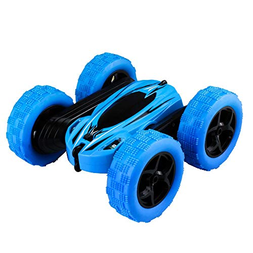 MEILA Drahtlose Fernbedienung Auto SUV Toy Boy Lade Dump Truck Stunt Rolling Kind 3-6 Jahre alt Flip Stunt (Color : Blue) -